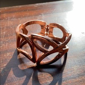 Rose gold hung cuff bracelet express